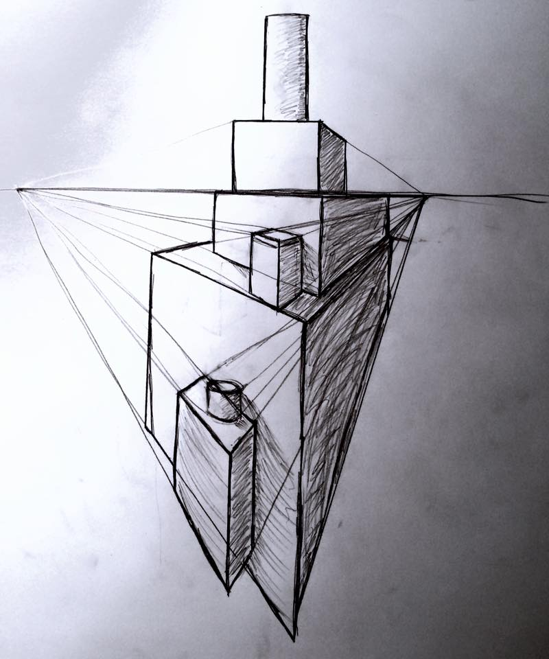 Perspective Drawing - Pencil by emi1296