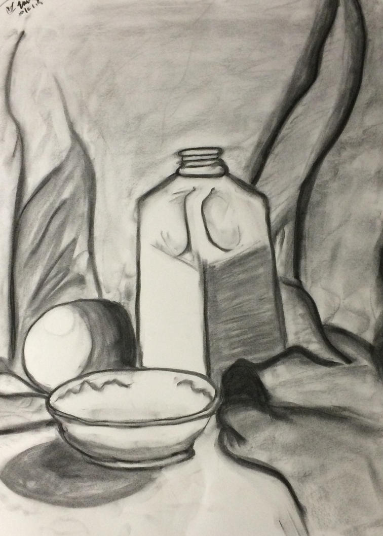 Still Life - Charcoal by emi1296
