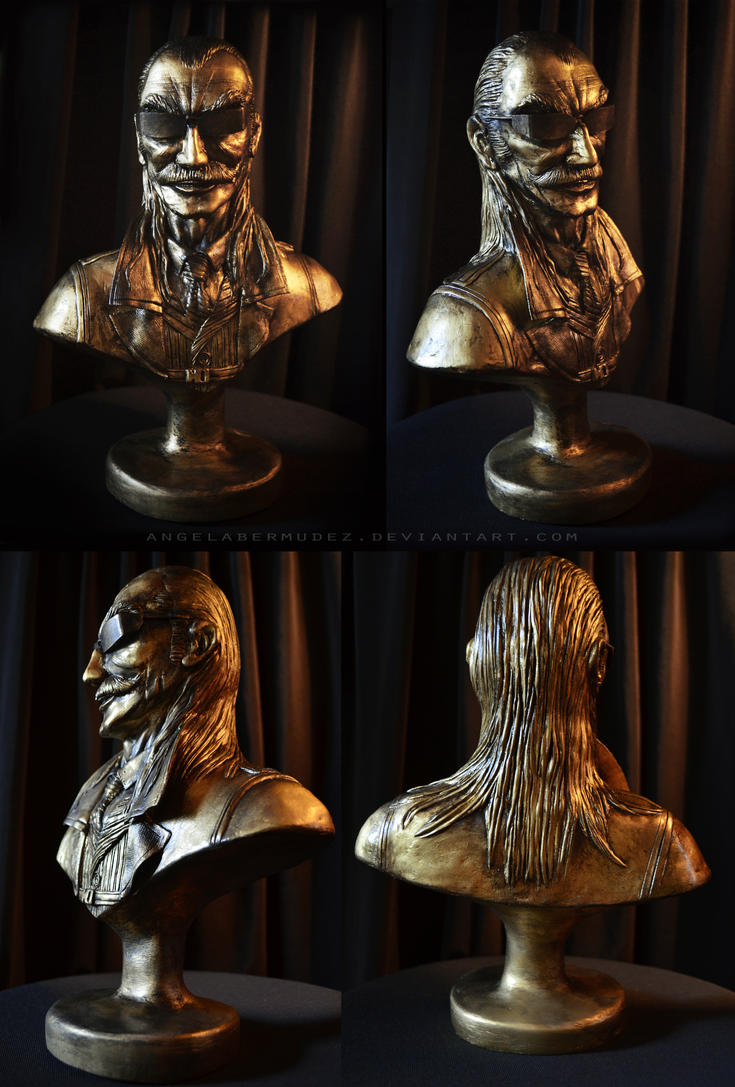 Liquid Ocelot Bust by AngelaBermudez