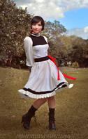 Elizabeth white dress by AngelaBermudez