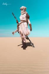 Rey: Star Wars the Force Awakens by AngelaBermudez