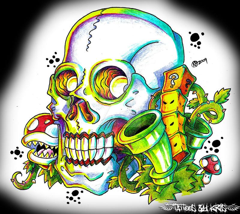super mario bros sugar skull by metroidvictim on deviantart. Black Bedroom Furniture Sets. Home Design Ideas