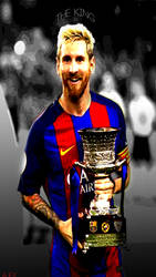 Messi Mobile wall by AqibJavedFx