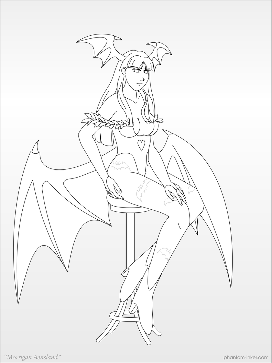 Morrigan Aensland by phantom-inker