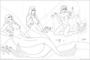 Mermaids' Treasures by phantom-inker