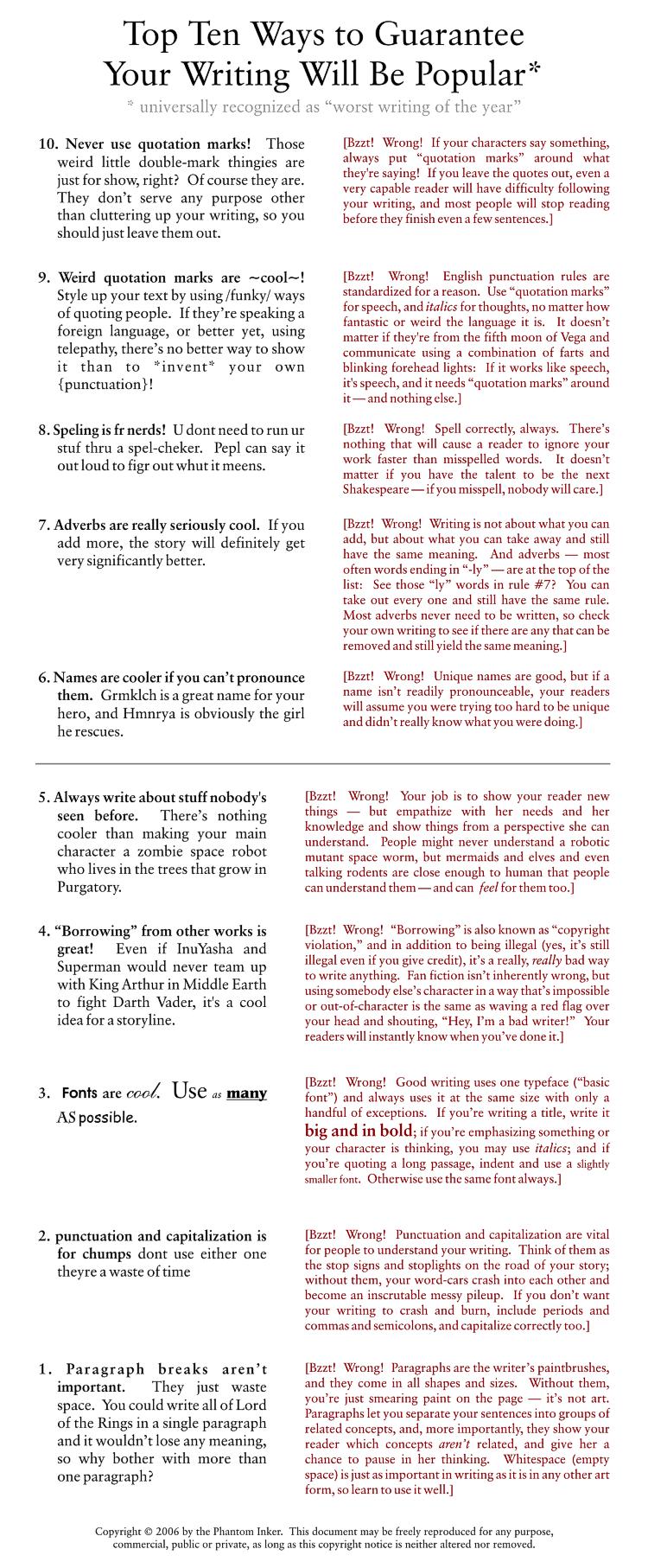 Guaranteed Popular Writing by phantom-inker