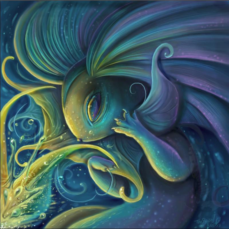 Vaporeon Ocean Queen by TheStripedKit