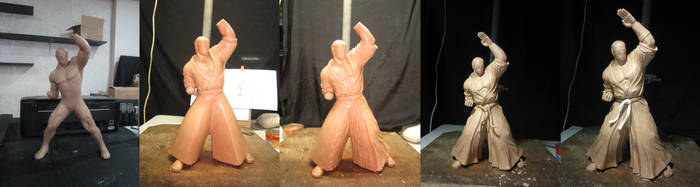 Geese Howard 1:6 scale WIP 1 by chiseltown
