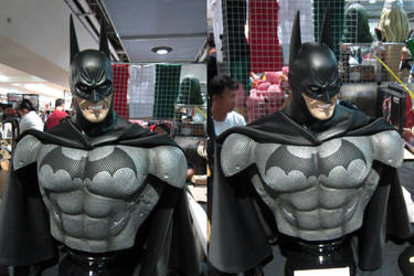 Batman Arkham series 1/2 scale bust WIP by chiseltown