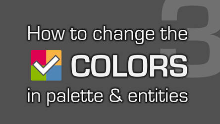 VIDEO #3: How to change COLORS!