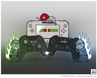 Next Gen Consoles Battle by Isibee