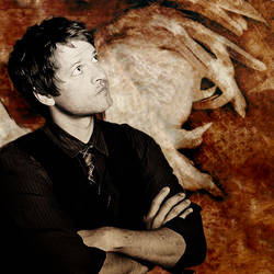 Misha Collins with Wings by chriscastielredy