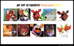 My Top 10 Favorite Foxes and Vixens
