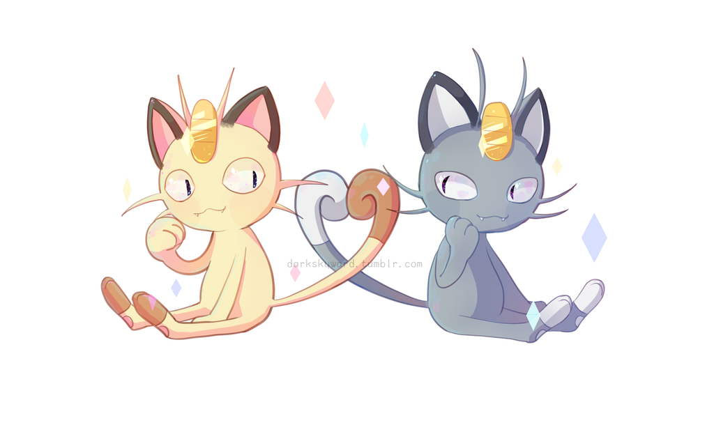 Meowth by BaekS... Persian Cat Wallpaper