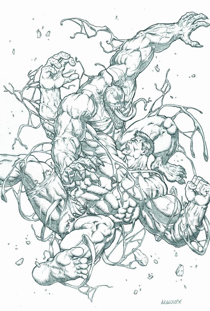 Red Hulk vs. Venom by MannixFrancisco