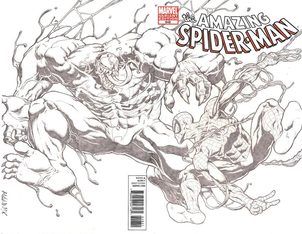Spidey vs Venom by MannixFrancisco