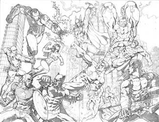 DC versus Marvel by MannixFrancisco