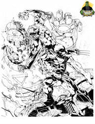 Wolverine v Sabertooth Inks by MannixFrancisco