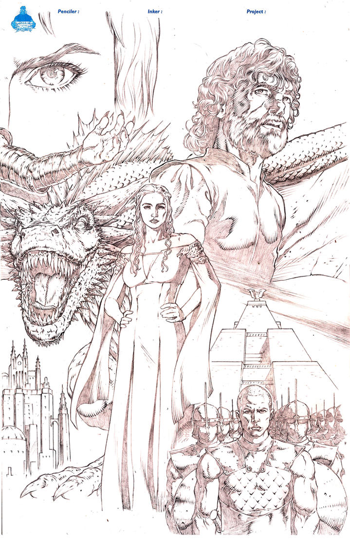 Daenerys Targaryen Game of Thrones by MannixFrancisco