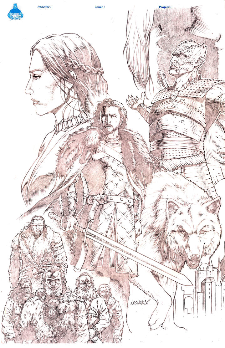 Jon Snow Game of Thrones by MannixFrancisco
