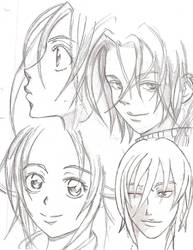 Trinity Blood style sketches by TenruIllusion
