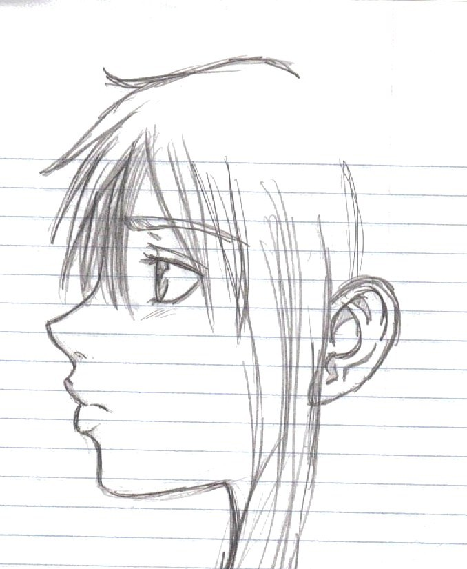 Side Profile Sketch By TenruIllusion On DeviantArt