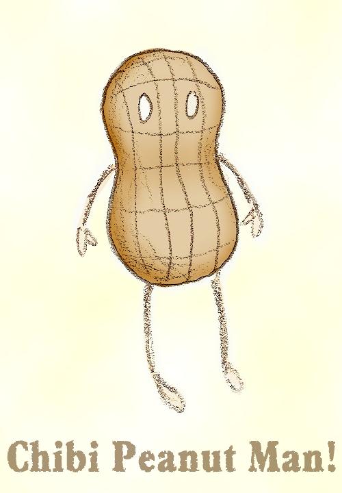 Chibi Peanut Man by meowsap