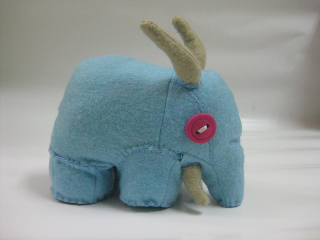 Sniffles, the real-life Elekk Plushie by Belvane