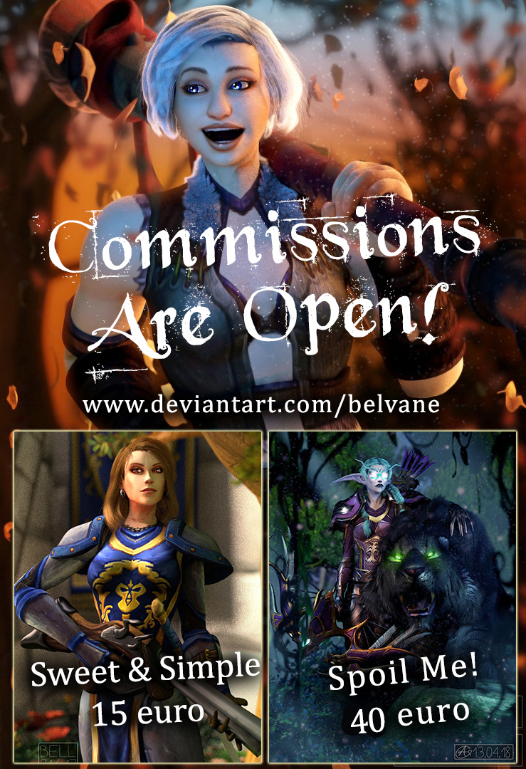 2018 07 14 Commissions Are Open by Belvane
