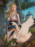 Calia Menethil's Royal Portrait with a Swan