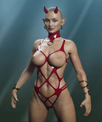 Red Latex Devil Fetish by Livius70