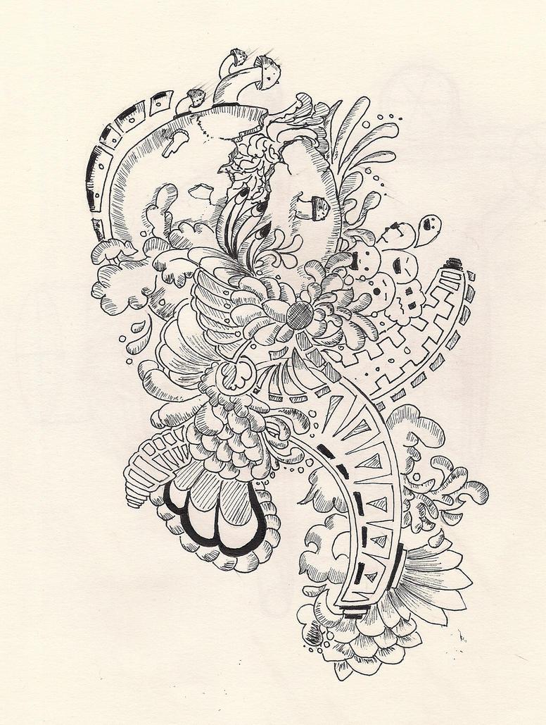 doodling no.2 Crazy world by darchii
