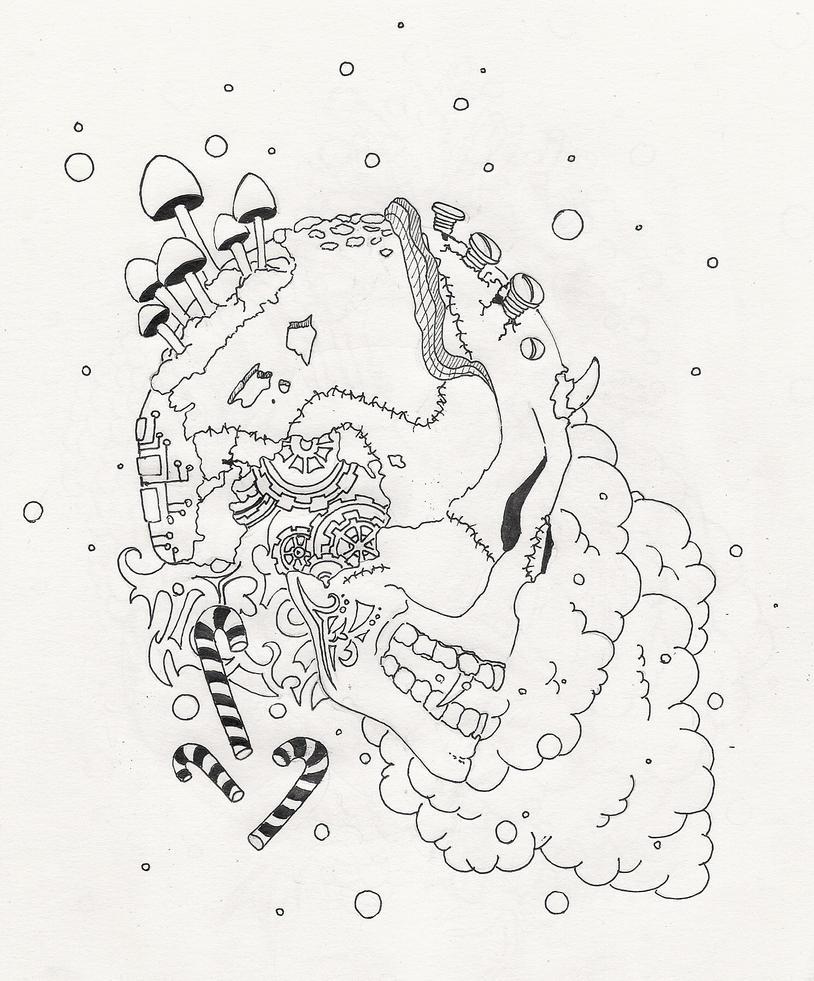 Skull by darchii