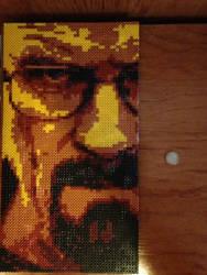 Walter White/ Heisenberg/ Hama Beads by xShikirayx