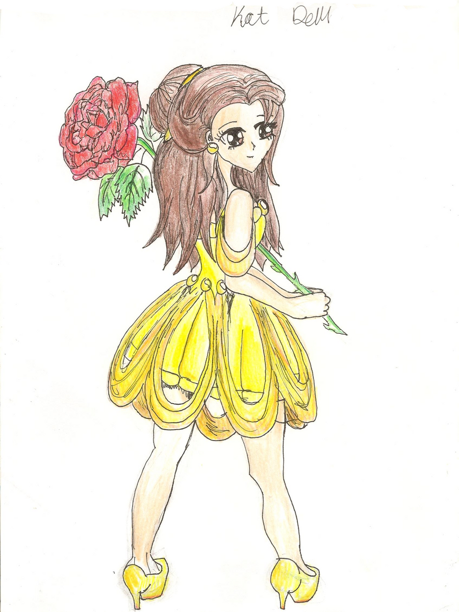 Disney Beauty And The Beast Belle In Manga By Katddem3