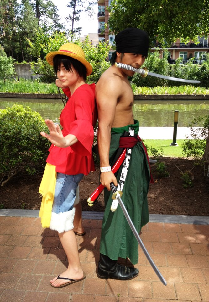 Time Skip Luffy and Zoro by sonicmario3