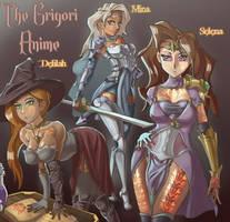 Delilah, Mina and Selena~ The Grigori by TheGrigoriAnime