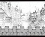 City Scene 1 Background for Animation