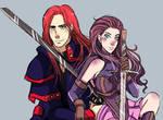 Sketch Red Head Duo Jezebel and Herzon