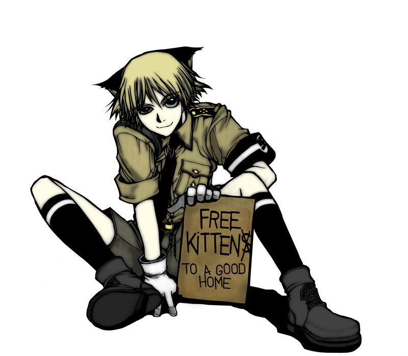 Anime Cat Boy Cowboy