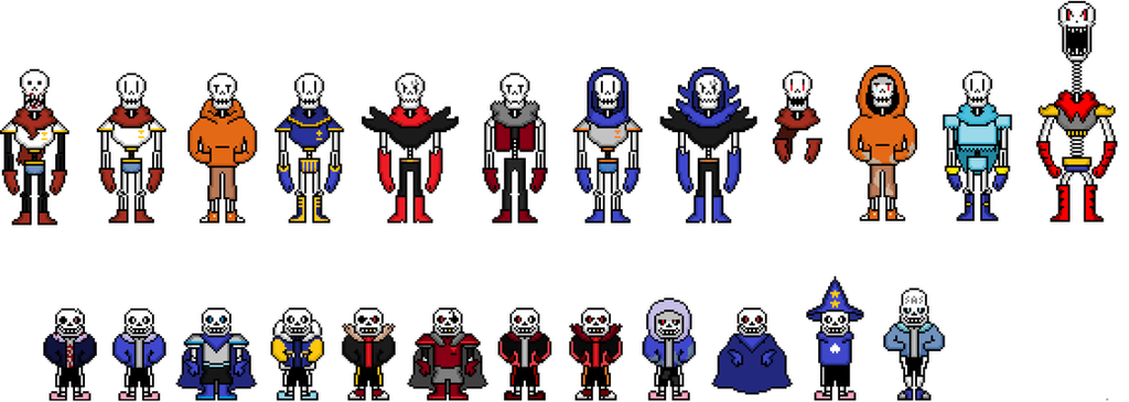 Bunch of skeletons by flambeworm370