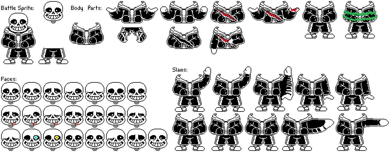 Undertale Sans Battle Sprite Sheet By Flambeworm370 On Deviantart