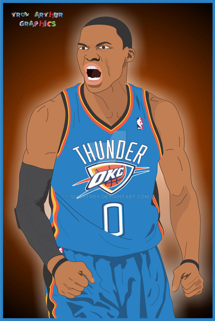 Oklahoma City Thunder - Russell Westbrook by sixertroy on ...