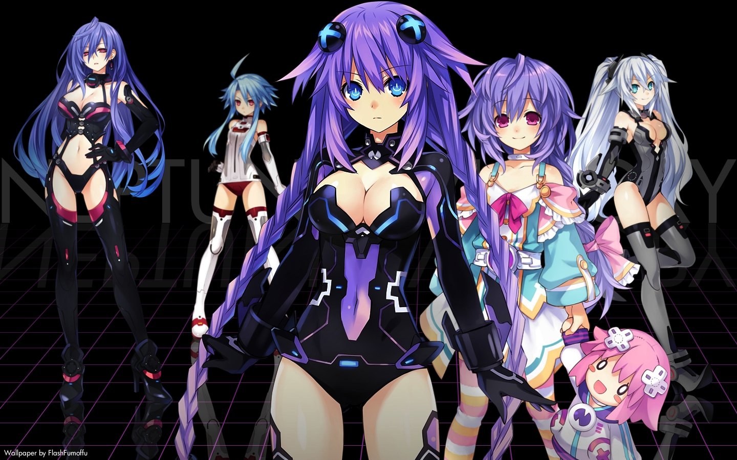 Neptunia Victory wallpaper by FlashFumoffu
