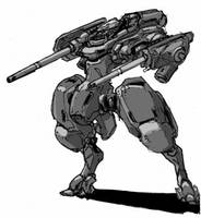 Dual cannon mech by genocidalpenguin