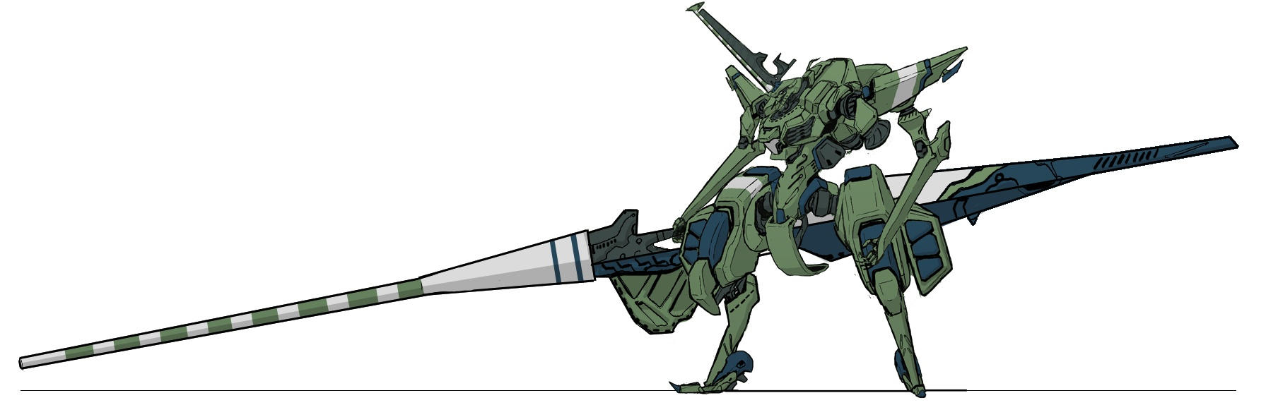 Galahad w. massdriver cannon by genocidalpenguin