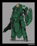 powered battle armour concept