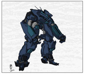 Megacorp security power armor (Color)