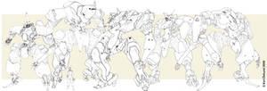 Sahdran republic mecha sizes by genocidalpenguin