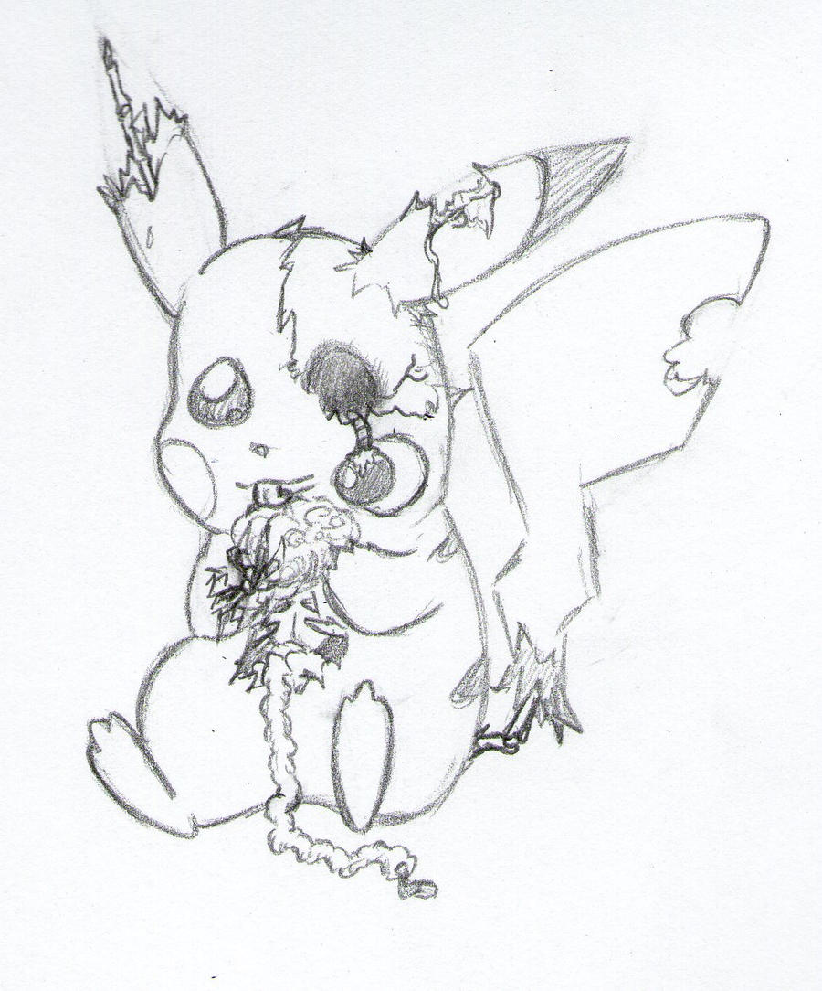 zombie pikachu coloring pages - photo#5
